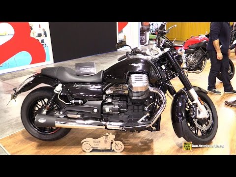 2015 Moto Guzzi California Customized with Zard Slip on Kit - Walkaround - 2014 EICMA Milan
