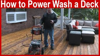 How to Power Wash a Deck