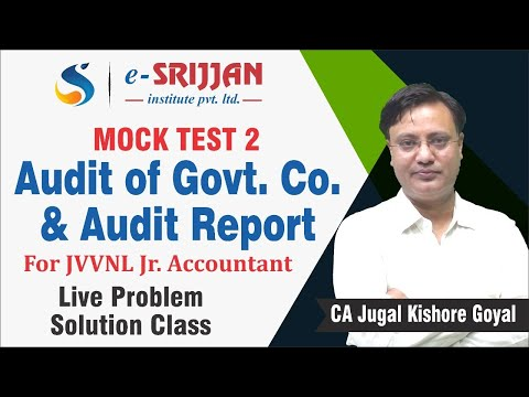 MOCK TEST-2 (Audit of Government Co, & Audit Report)