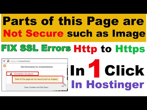 FIX : Parts of this Page are Not Secure Such as Image (Solve SSL Errors) Http to Https in 1 Click