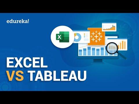 Excel Vs Tableau | Difference Between Excel And Tableau | Tableau Training | Edureka