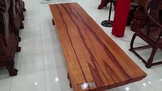 MẶT BÀN GỖ CHUỒNG ĐĂKLĂK D320 x R(80-90) x D12