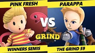 Smash Ultimate Tournament - Pink Fresh (Lucas) Vs. Parappa (Mii Sword, Ryu) - The Grind 59 SSBU WS