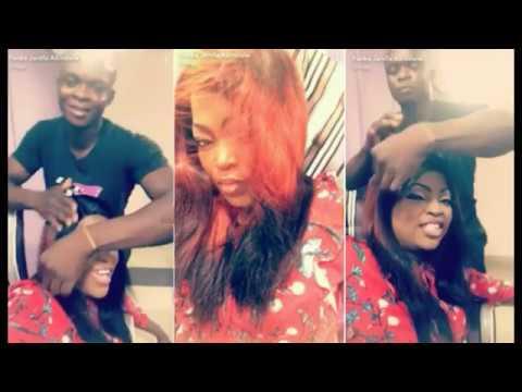 Funke Akindele Praises & Shows Off Her Male HairStylist