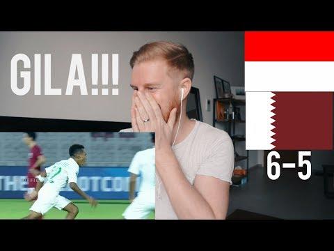 (GILA!!!) INDONESIA U-19 VS QATAR U-19 (AFC U-19) 5-6 // REACTION