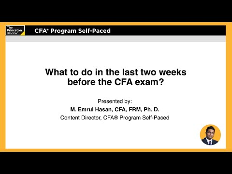 What to Do Two Weeks Before the CFA Exam | CFA® Review | The ...