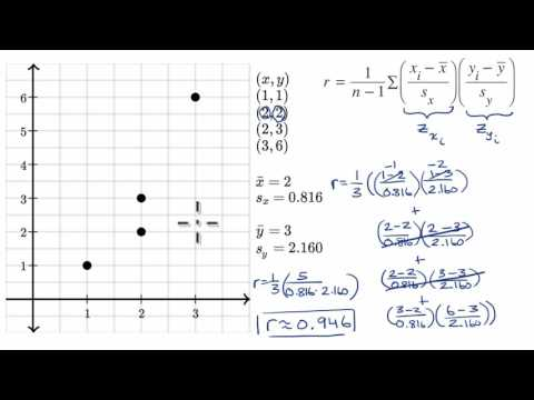 Calculating correlation coefficient r (video) | Khan Academy