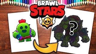Rysuję SPIKE z BRAWL STARS .feat Kremol