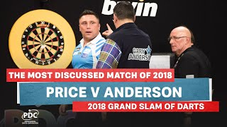 THE MOST DISCUSSED MATCH OF 2018   Price v Anderson   2018 Grand Slam of Darts Final