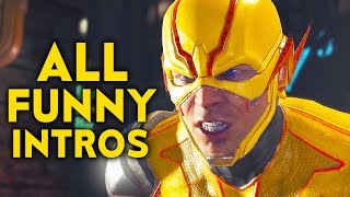 INJUSTICE 2 ALL Funniest Intros Dialogues Funny Character Banter Interaction