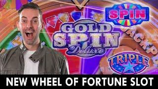 *NEW* WHEEL OF FORTUNE 🔷 GOLD SPIN DELUXE ➡ 2ND BIGGEST WHEEL WIN BONUS!