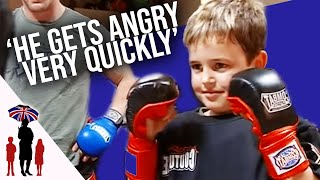 Aggressive 7 Year Old Lets Anger Out Doing Martial Arts | Supernanny