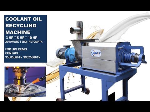 Coolant Oil Recycling System