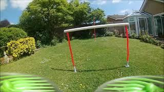 FPV garden quad flight