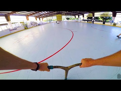 SCOOTER TRICKS IN GIANT HOCKEY RINK!