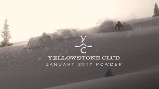 January 2017 Powder at Yellowstone Club