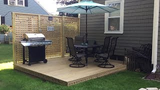 Building A Floating Deck Time-Lapse