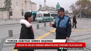 Konya'da zabıtadan ziyaretçilere rehberlik