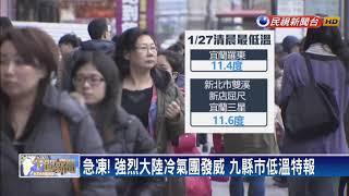 過年霸王級寒流報到? 氣象局:僅東北季風 待觀察-民視新聞