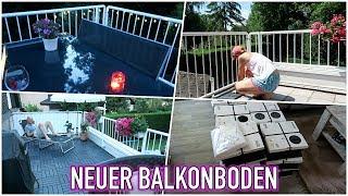 NEUER BODEN - BALKON MAKE-OVER - IKEA RUNNEN BODEN