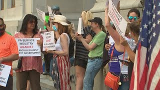 Bar, Restaurant Owners Rally Against Allegheny Co.'s Alcohol Ban In Front Of City-County Building