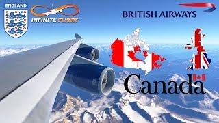 Infinite Flight GLOBAL: London (LHR) To Vancouver (YVR) | TIMELAPSE | British Airways | Boeing 747