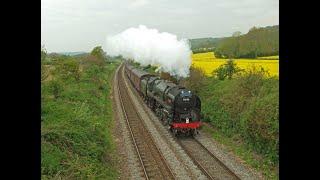 preview picture of video 'Britannia no.70000 'Britannia' and MN no.35028 'Clan Line' around the Surrey Hills 18/05/12'
