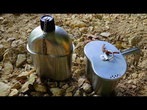 Feldflasche mit Becher aus Edelstahl für alle Outdoor-Aktivitäten