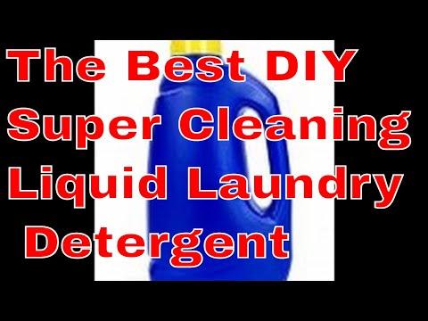 DIY SUPER CLEANING LIQUID LAUNDRY DETERGENT
