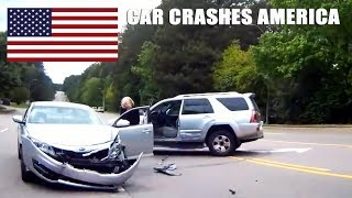 CAR CRASHES IN AMERICA #26 | BAD DRIVERS USA, CANADA | NORTH AMERICAN DRIVING FAILS