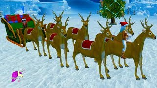 Reindeer Training To Fly in Christmas Winter Village Star Stable Online Horse Video Game