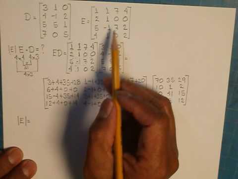 Multiplicación de matrices 3x4*4x4
