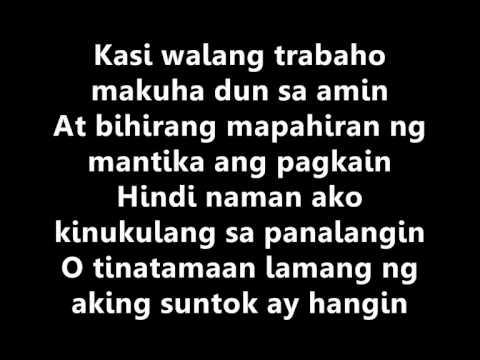 Salarin Gloc 9 Feat Bamboo Lyrics Chords