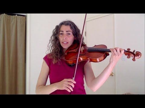 Finding notes on the violin