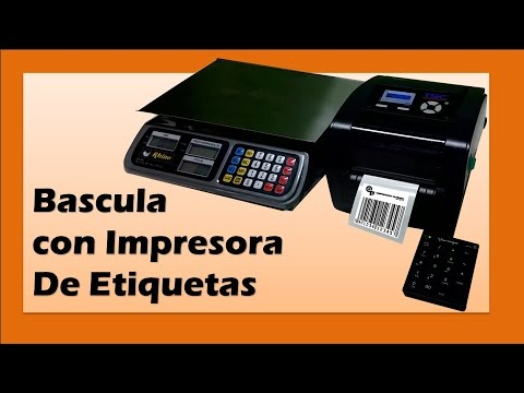 Bascula con Impresora de Etiquetas; Imprime Peso, Código de Barras y Precios