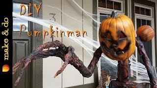DIY Pumpkinman - Scary Halloween Yard Decor