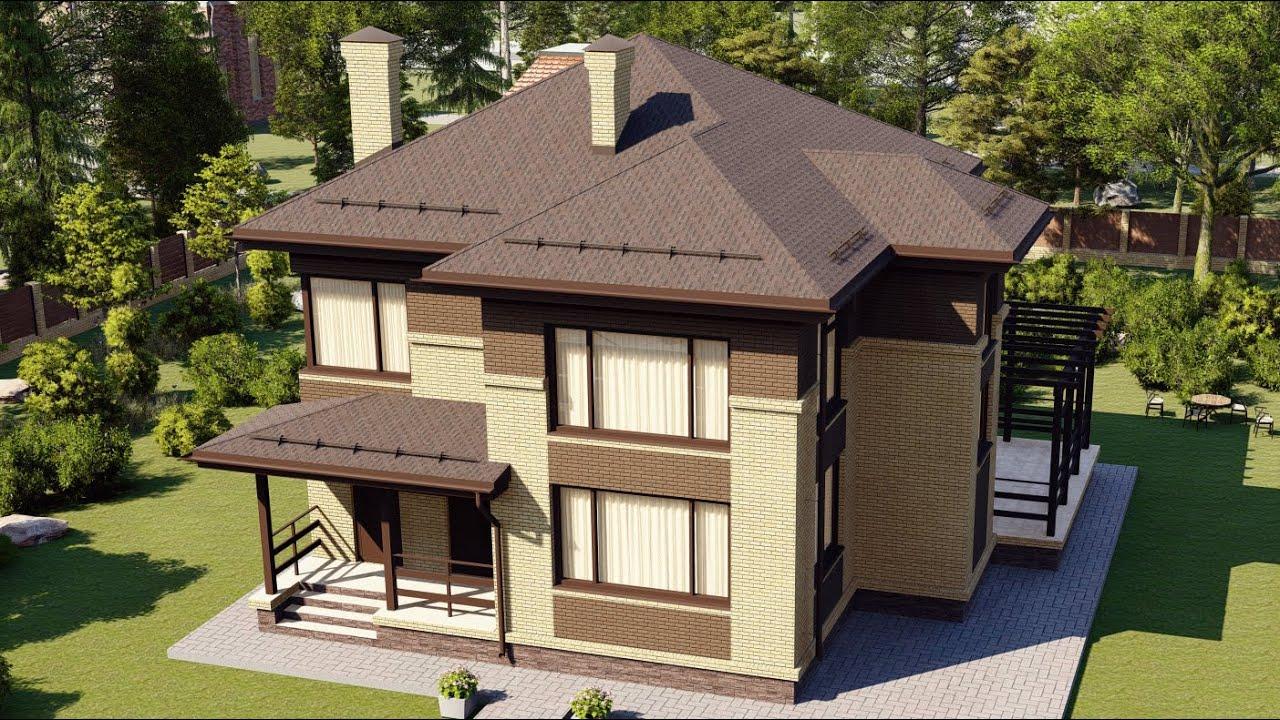 Проект красивого, большого двухэтажного дома из газобетона