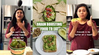 Brain Boosting Food to Eat with the Least Efforts Avocado Toast & Dip Video Recipe Bhavna's Kitchen
