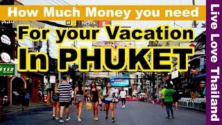How much money you need for your vacation in Phuket Thailand #livelovethailand