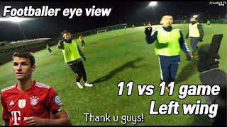 Football player eye view 11 vs 11 game Raumdoiter POV