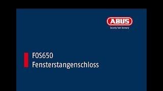 Montagevideo ABUS  FOS650 und FOS650A Fenster-Stangenschloss