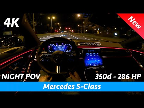Mercedes S-Class 2021 AMG Line - Night POV test drive & FULL review in 4K | Digital Headlights, HUD