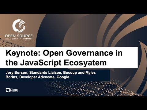 Open Governance in the JavaScript Ecosystem