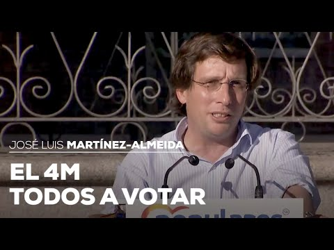 """Almeida: """"El 4M todos a votar"""""""