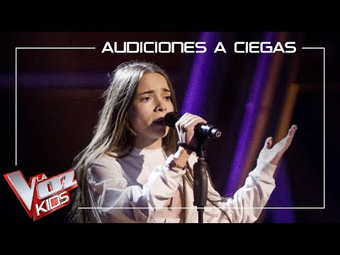 Sara Gálvez canta 'Toda una vida' | Audiciones a ciegas | La Voz Kids Antena 3 2019