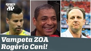 """Vampeta ZOA Rogério Ceni: """"só não vai sacar o Fábio do Cruzeiro, hein?"""""""