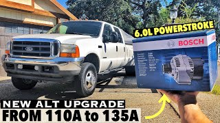 2001 F350 7.3 Powerstroke - New Alternator Install - Upgrading from stock 110A to 6.0L 135A Bosch,