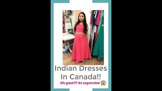Indian Dresses In Canada | Its So Expensive | Canada Couple| Vlog