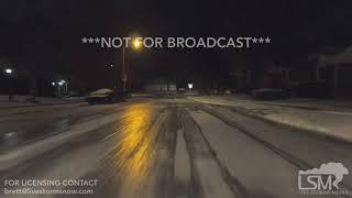 01-20-19 Lexington, KY Major Black Ice - Hard Freeze On Roads Great Steady Shots with Nat Sound