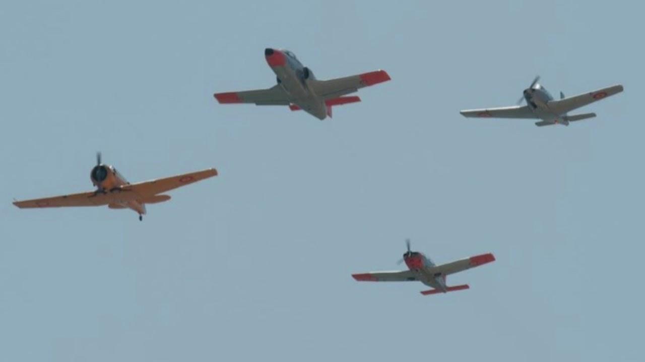 AGA 75 ANIVERSARIO – Despliegue aviones de la FIO